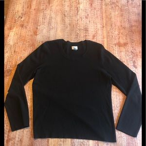 Chico's black sweater sz 2